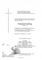 Siegfried Dullnig, Chefinspektor i.R., gestorben am 01.07.2020