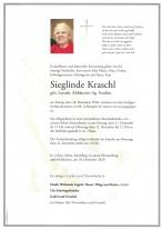 Sieglinde Kraschl, gestorben am 18.12.2020