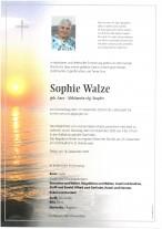 Sophie Walze, gestorben am 17.12.2020