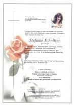 Stefanie Schnitzer, gestorben am 04.09.2021