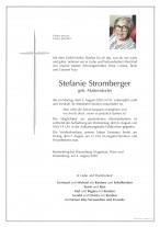Stefanie Stromberger,gestorben am 03.08.2020