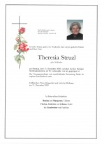 Theresia Struzl, gestorben 13.12.2020