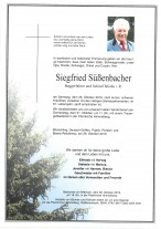 Siegfried Süßenbacher, verstorben am 26.10.2019