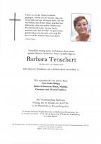 Barbara Tenschert, gestorben am 08.10.2020