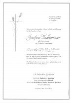 Josefine Thalhammer, gestorben am 19.03.2020