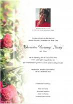 Theresia Berenyi, gestorben am 26.12.2020