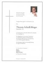 Theresia Schießl-Bürger gestorben am 06.12.2020
