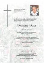 Thusnelda Rasch, gestorben am 25.01.2021