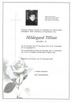 Hildegard Tillian, Schulrätin i.R., gestorben am 24.11.2019