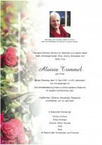 Aloisia Trimmel, gestorben am 13.04.2021