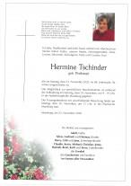 Hermine Tschinder, gestorben am 23.11.2020
