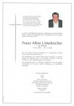 Franz Albin Unterkircher,gestorben am 07.11.2020