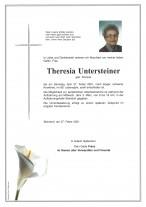 Theresia Untersteiner, gestorben am 27.02.2021