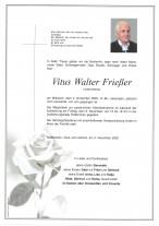 Vitus Walter Frießer gestorben am 04.11.2020
