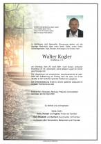 Walter Kogler, gestorben am 20.04.2021