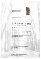 Kurt Johann Walter, gestorben am 11.02.2020