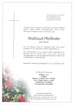 Waltraud Pfeifhofer,gestorben am 23.12.2020
