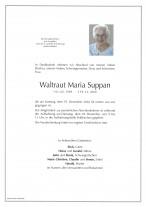 Waltraut Maria Suppan, gestorben am 19.12.2020