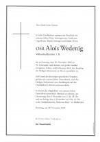 OSR Alois Wedenig, gestorben am 28.11.2020