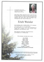 Erich Weixler, gestorben am 12.10.2020