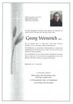 Georg Wenerich, gestorben am 17.04.2021