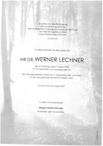 Werner Lechner, gestorben am 07.08.2021