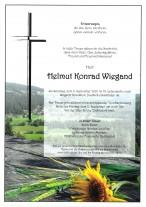 Helmut Wiegand,gestorben am 06.09.2020
