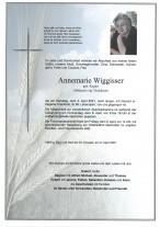 Annemarie Wiggisser, gestorben am 03.04.2021