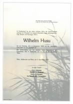 Wilhelm Husu, gestorben am 04.09.2021