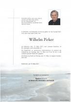 Wilhelm Pirker, gestorben am 10.03.2021