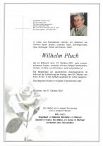 Wilhelm Pluch, gestorben am 27.10.2021