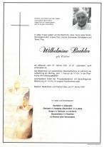Wilhelmine Bacher, gestorben am 27.01.2021