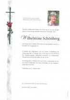 Wilhelmine Schönberg, gestorben am 08.10.2021