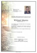 Willibald Mentin,gestorben am 04.11.2020
