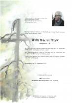 Wilhelm Wurmitzer, gestorben am 20.12.2020