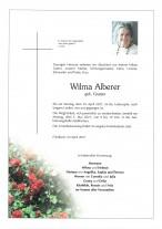 Wilma Alberer, gestorben am 19.04.2021