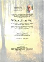 Wolfgang Franz Wutti, gestorben am 19.03.2021