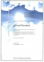 Gertrud Wurmitsch, gestorben am 26.01.2020