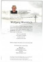 Wolfgang Wurmitsch, gestorben am 24.02.2020
